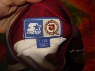vtg Starter COLORADO AVALANCHE logo Jersey YOUTH L/XL