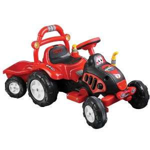 Tractor Trailor Kids Electric Ride on Battery Power Tow Truck Wheels