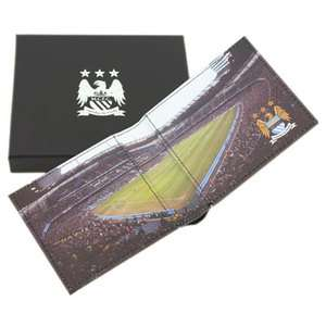 MANCHESTER CITY PANORAMIC STADIUM LEATHER WALLET OFFICIAL MAN CITY
