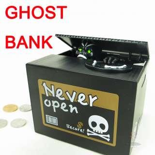 Cat Coin Bank Itazura Money Save Box (White Kitty) Gift
