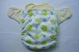 Organic Bamboo Baby Cloth Diaper + 2 Inserts BG06