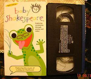 BABY SHAKESPEARE Einstein Vhs EDUCATIONAL Poetry FREE 1ST CLASS SHIP