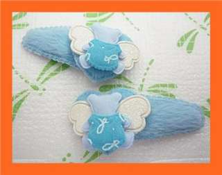 Lovley Five Colors Angel Bear Baby Girls Toddler Hair Clips