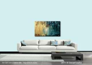 ORIGINAL abstract painting modern IMPASTO art leaves trees rainforest