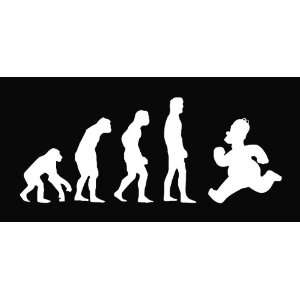 Evolution Simpsons Vinyl Die Cut Decal Sticker 8 White