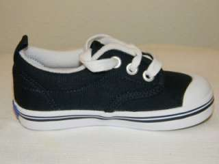 Navy Blue Dress Shoes on Keds Scooter Navy Blue Canvas Lace Up Sneakers Shoes Baby Toddler