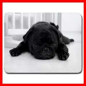 BLACK PUG PET DOG ANIMALS Mouse Pad MousePad New