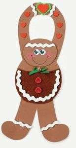 Gingerbread Man Pouch Craft Kit Foam Door Hanger FUN