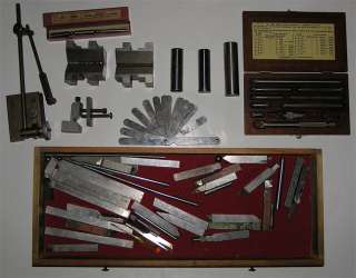Antique Wooden Starrett Machinist Toolbox Complete With Antique Tools