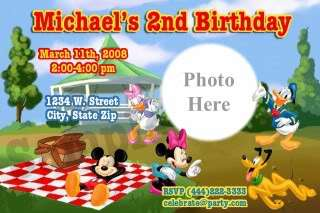 Mickey Mouse Clubhouse Birthday Party Invitations