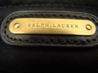 Lauren Blue Label Black Velvet Raider Logo Messenger Bag Purse