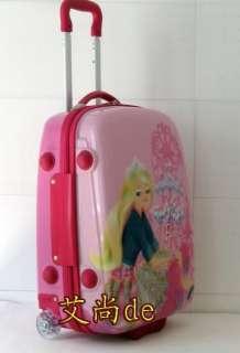 Barbie 18 Luggage Bag Baggage Trolley Roller Pink 3381