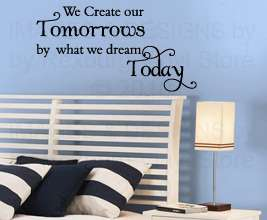 Decal Art Decor Quote Inspirational Sticker Tomorrow Life IN57