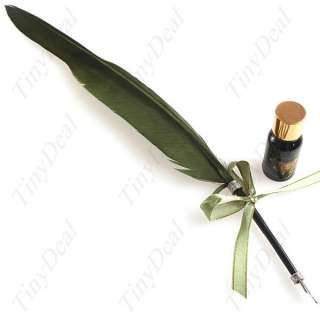 Big Natural Quill Goose Feather Ink Pen Set FSN 13344