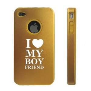 Apple iPhone 4 4S 4G Gold D705 Aluminum & Silicone Case