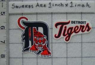 DETROIT TIGERS MLB Iron On Fabric Applique No Sew 2pc