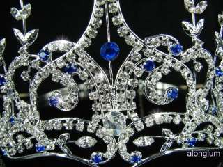 Blue Wedding Bridal Bridesmaid Prom Sparkling Swarovski Crystal Tiara