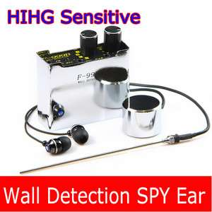 High Sensitive Through wall Spy Ear Voice Monitor Listening Wall