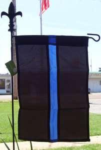 Thin Blue Line 12 x 18 Garden Flag **