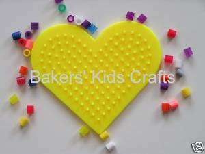PERLER Bead Pegboard, SMALL HEART *GREAT KID FUN*