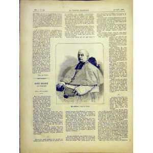 Portrait Billere Tarbes Religious French Print 1882 Home