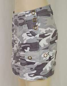Blue Tattoo NWT $98 Cargo Utility Camo Mini Skirt