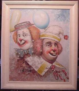 Moninet Clowns Painting