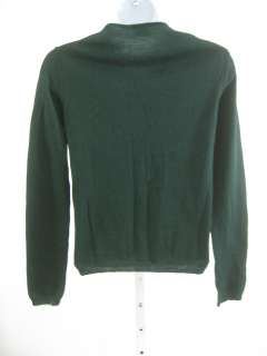 are bidding on a DKNY Green Long Sleeve Button Front Cardigan Sweater