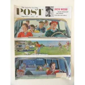 The Saturday Evening Post Magazine September 5, 1959 (Cover Only