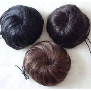Fashionable Ball/Bud Hair Style Wig Leash Type   Black
