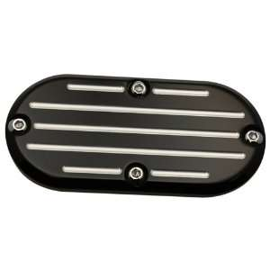 Pro One 202150B Inspection Cover, Ball Milled, Black Harley Davidson