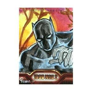 Iron Man 2   Color Sketch Card of Black Panther by Joe