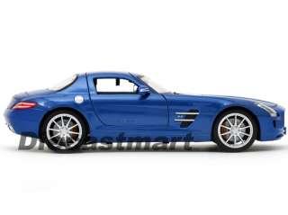MAISTO 118 MERCEDES BENZ SLS AMG NEW DIECAST MODEL CAR METALLIC BLUE
