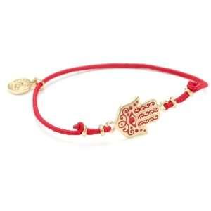 Blee Inara Elastic Bracelet with Gold Painted Enamel Hamsa