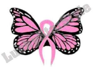 Nail Decals Set of 20 Breast Cancer Awareness Butterfly