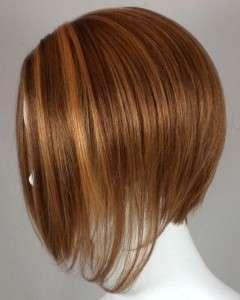 Short Straight Hair Wig w/Wedge Cut   Uneven Bob Wigs