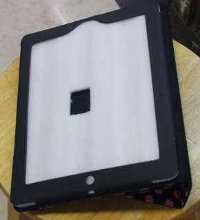 Dots Leather Case Cover W/Stand For iPad 2 Black 076783016996