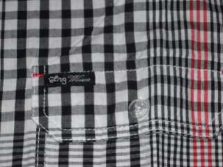 Lifted Research Group L R G Trees Company Black Button Down Woven