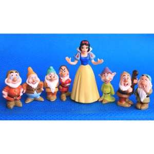 FREE SHIP Lot 7 Pcs The Seven Dwarfs & Disney Princesses Snow White