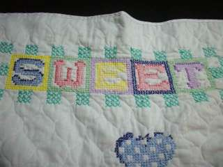CROS. STIT. CLOWN SWEET DREAMS BABY QUILT #C1050