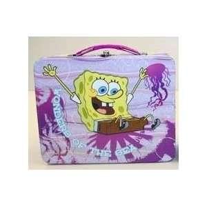 SpongeBob SquarePants Purple Metal Snack Box Tin Tote