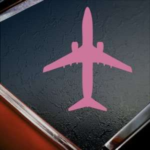 Boeing 737 800 Jet Airliner Pink Decal Window Pink Sticker