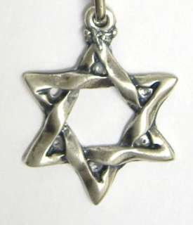 STAR OF DAVID Israel Key Ring Chain Jewish Judaica Gift