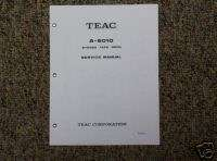 TEAC A 6010 Reel to Reel Service Manual FREE SHIP!