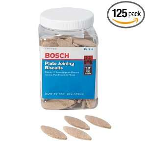 Bosch PJ1110 Plate Joiner Biscuits size 10, 125 Pack: Home