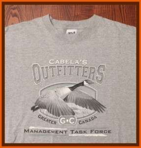 Outfitters Greater Canada Management Task Force Gray Large T Shirt