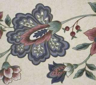 Lot of 4 Blue Red Floral Wallpaper Border Prepaste NEW
