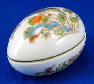 "Wedgwood KUTANI CRANE #R4464 Mini Egg Box & Lid 2.875"" Blue Bird"
