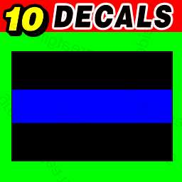 10 Thin Blue Line Decal Stickers Police / Sheriff / FOP