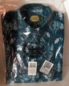 Womans Printed Teal Chamois Long Sleeved Shirt from Cabelas XS NIP